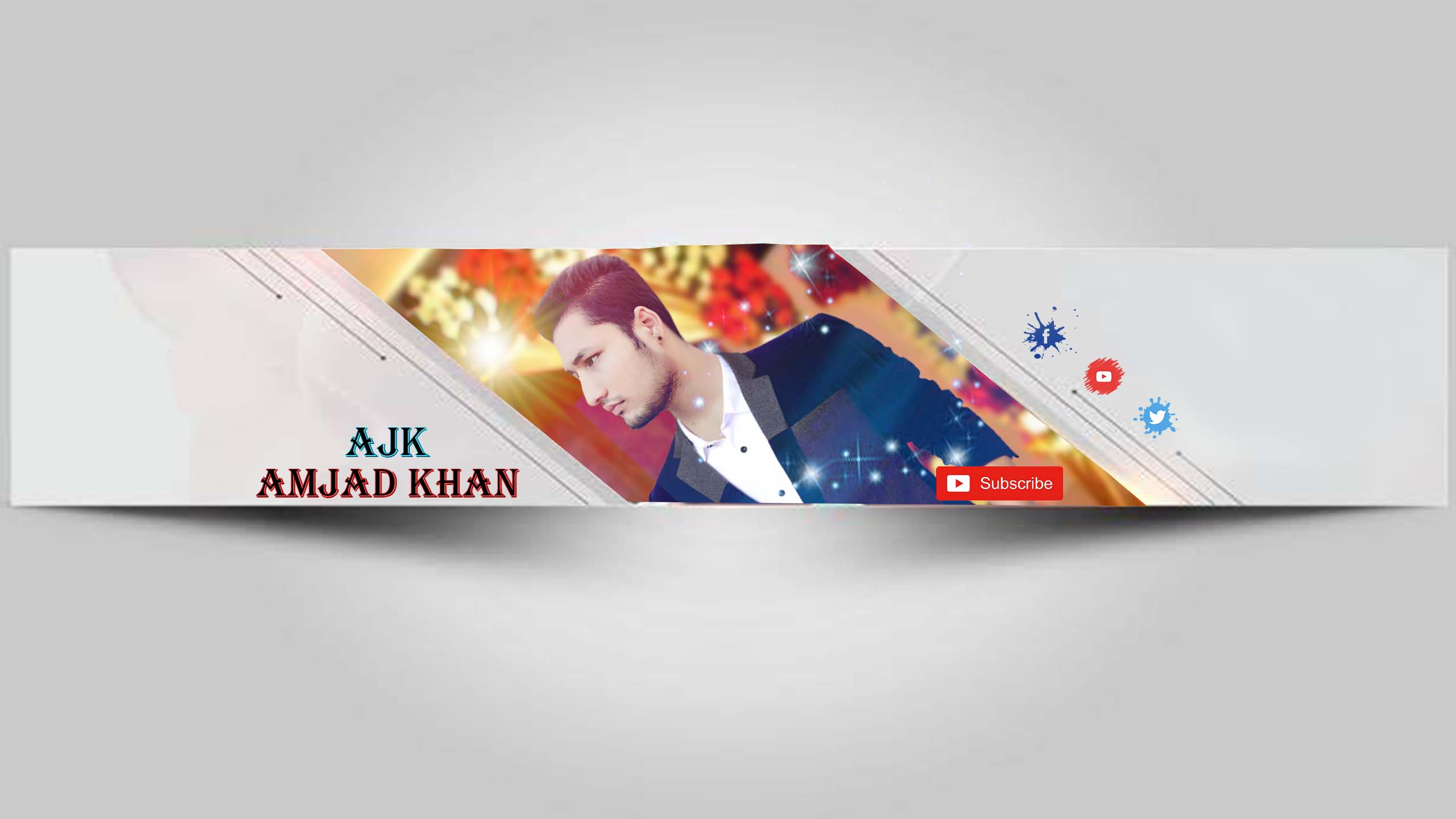 Youtube Channel Art Youtube Banner Template Psd File Download