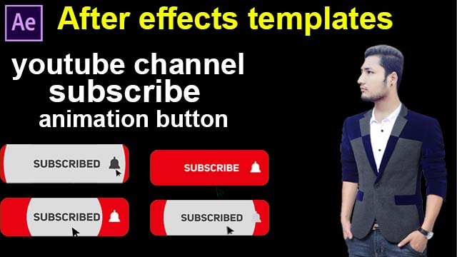youtube subscribe animation button after effects template free download