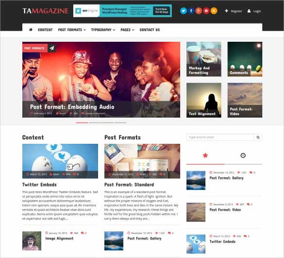 blogger premium Template - Responsive template