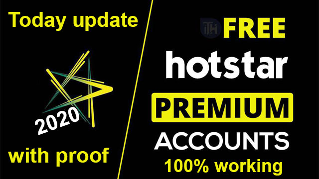 Hotstar Premium Account Free - username & Password,100% working
