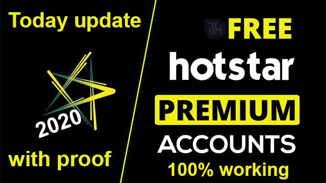 Hotstar Premium Account Free – Account Email & Password,100% working