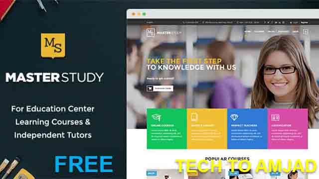 Education WordPress Premime Theme free Download | WordPress Theme