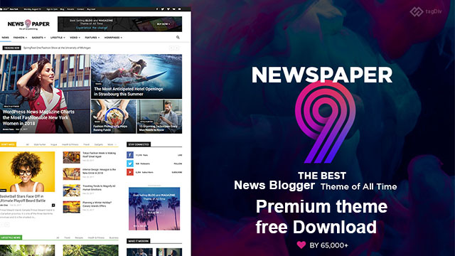 Newspaper 9 Responsive blogger premium template free download