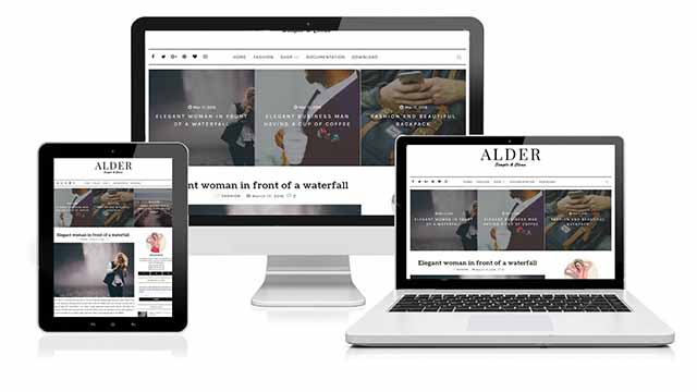 Alder - Responsive seo friendly premium blogger template free download