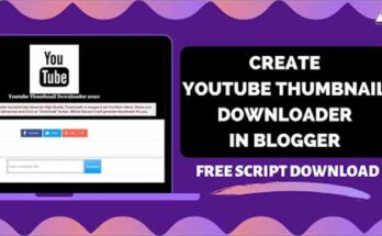 youtube thumbnail downloader script free Download | youtube video thumbnail downloader script for blogger