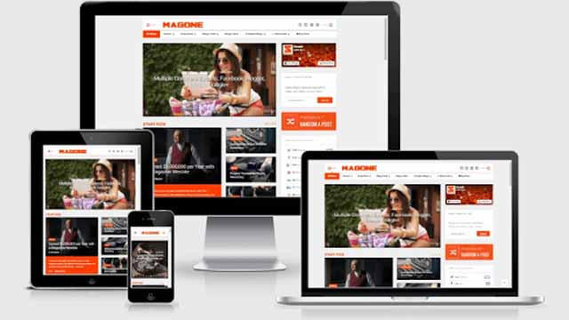 Responsive Blogger templates MagOne - Responsive News & Magazine Blogger Template