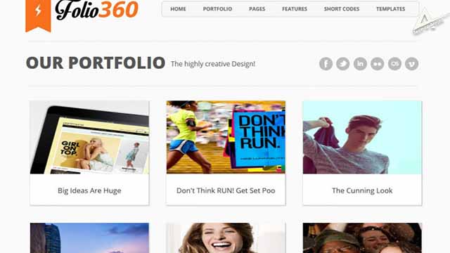 Folio360 template for blogger responsive seo friendly blogger template