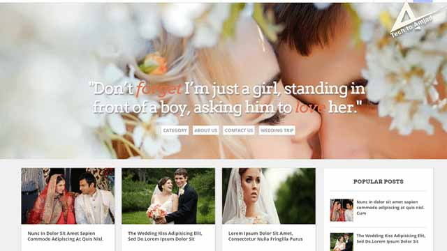 Wedding Mag blogger template | Wedding Advanced Responsive Blogger Template